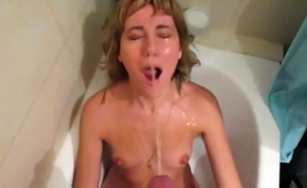 kinky-blonde-milf-with-tiny-boobs-gets-covered-in-hot-piss