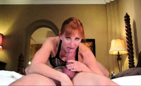 Sensual Redhead Milf Displays Her Handjob And Blowjob Skills