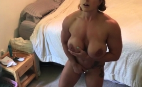 big-breasted-amateur-milf-makes-herself-cum-hard-on-the-bed