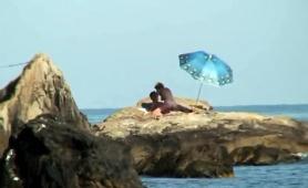 Beach Voyeur Finds A Lustful Amateur Couple Having Hot Sex