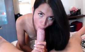 Exotic Camgirl With Tiny Boobs Takes A Long Dick In Her Ass
