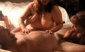 Horny Mature Lovers Invite A Curvy Lady For A Wild Threesome