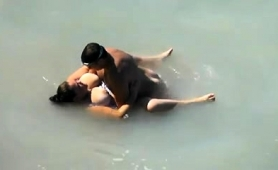 Curvy Mature Brunette Enjoying A Wild Fucking On The Beach
