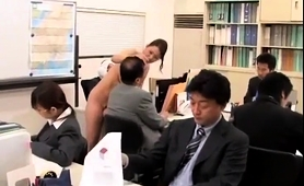 Elegant Japanese Lady Feeds Her Lust For Cock In The Office