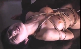Helpless Japanese Wife With Lovely Tits Gets Fed A Meat Pole