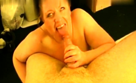 Chubby Amateur Wife Has A Meat Prick Making Her Cunt Happy